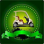 Golfer club emblem. Vector illustration Stock Photo - Royalty-Free, Artist: leonido                       , Code: 400-05737085