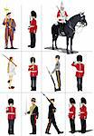 Big set of the few kinds guards.  Vector illustration Stock Photo - Royalty-Free, Artist: leonido                       , Code: 400-05737108