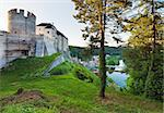 Evening  historic medieval Sternberk Castle in Czech Republic ( central Bohemia, near Prague ) Stock Photo - Royalty-Free, Artist: Yuriy                         , Code: 400-05737735
