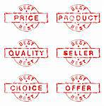 Set of six commercial grungy ink stamps Stock Photo - Royalty-Free, Artist: lupobianco                    , Code: 400-05738496