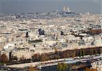 The view to Montmartre hill, with Sacre-Coeur on the top, and the river Seine in the foreground, from the Eiffel Tower, Paris Stock Photo - Royalty-Free, Artist: alexandr6868                  , Code: 400-05738845