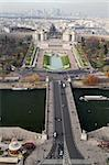 The Pont d'Iena, the Trocadero Gardens, and the La Defense area at the far, as viewed from Eiffel Tower, Paris Stock Photo - Royalty-Free, Artist: alexandr6868                  , Code: 400-05738846