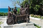 Blood Compact statue in Tagbilaran City, Bohol, the Philippines, commemorating the peace pact between Datu Sikatuna and Miguel Lpez de Legazpi in 1565. Stock Photo - Royalty-Free, Artist: hansenn                       , Code: 400-05738855