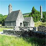 St. Kevins Monastery, Glendalough, County Wicklow, Ireland Stock Photo - Royalty-Free, Artist: phbcz                         , Code: 400-05739353