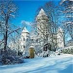 Konopiste Chateau in winter, Czech Republic Stock Photo - Royalty-Free, Artist: phbcz                         , Code: 400-05739369