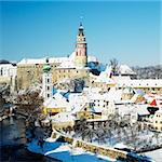 Cesky Krumlov in winter, Czech Republic Stock Photo - Royalty-Free, Artist: phbcz                         , Code: 400-05739375