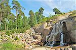 Falls in the landscape park Sapokka in Kotka, Finland Stock Photo - Royalty-Free, Artist: TatyanaSavvateeva             , Code: 400-05739503