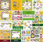 cartoon animal face card