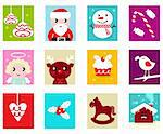 Advent Calendar. Christmas Time. Various cartoon christmas icons and elements.  Stock Photo - Royalty-Free, Artist: lordalea                      , Code: 400-05741036