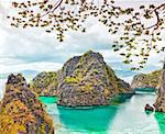 Tropical lagoon on the way to Kayangan lake. Coron island Stock Photo - Royalty-Free, Artist: GoodOlga                      , Code: 400-05741369