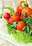Different fresh vegetables on the table Stock Photo - Royalty-Free, Artist: Dream79                       , Code: 400-05741608