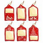 set of christmas tags, this illustration may be useful as designer work Stock Photo - Royalty-Free, Artist: Lady_Aqua                     , Code: 400-05742122