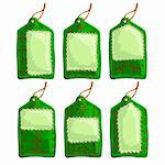 set of christmas tags, this illustration may be useful as designer work Stock Photo - Royalty-Free, Artist: Lady_Aqua                     , Code: 400-05742123
