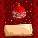 christmas background, this illustration may be useful as designer work Stock Photo - Royalty-Free, Artist: Lady_Aqua                     , Code: 400-05742127