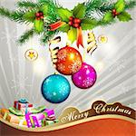 Christmas ball with gifts Stock Photo - Royalty-Free, Artist: Merlinul                      , Code: 400-05742207