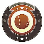 Softball icon on round red and brown imperial vector button with star accents Stock Photo - Royalty-Free, Artist: lhfgraphics                   , Code: 400-05742361