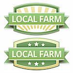 Local farm food label, badge or seal with green and yellow color in vector Stock Photo - Royalty-Free, Artist: lhfgraphics                   , Code: 400-05742384
