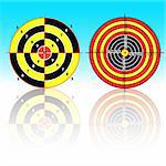 Set targets for practical pistol shooting, exercise. Vector illustration Stock Photo - Royalty-Free, Artist: aarrows                       , Code: 400-05743593