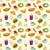 sandwich wrapper - seamless fast food pattern   Stock Photo - Royalty-Freenull, Code: 400-05745147