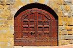 Close-up Image Of Wooden Ancient Italian Door Stock Photo - Royalty-Free, Artist: gkuna                         , Code: 400-05745217