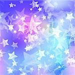 blue and pink stars over azure background Stock Photo - Royalty-Free, Artist: marinini                      , Code: 400-05745238