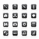 collection of  medical themed icons and warning-signs - Vector Icon Set Stock Photo - Royalty-Free, Artist: stoyanh                       , Code: 400-05745607