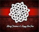Vector white paper christmas snowflake on a red background Stock Photo - Royalty-Free, Artist: orsonsurf                     , Code: 400-05746006