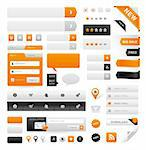 Large set of icons, buttons and menus for websites Stock Photo - Royalty-Free, Artist: ThomasAmby                    , Code: 400-05746106