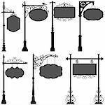 A set of street pole with frame. Stock Photo - Royalty-Free, Artist: leremy                        , Code: 400-05746515