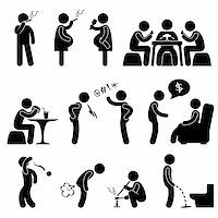 A set of pictogram about people bad behavior and habit. Stock Photo - Royalty-Freenull, Code: 400-05746611