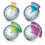 set of timers - vector illustration