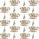 Backround pattern with cofe cups Stock Photo - Royalty-Free, Artist: hibrida13                     , Code: 400-05748623