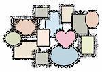 blank multiple picture frame set, vector design element