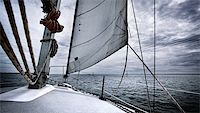 sailing boat storm - A yacht travelling through a storm Stock Photo - Royalty-Freenull, Code: 400-05749316