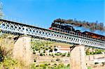 steam train in Douro Valley, Portugal Stock Photo - Royalty-Free, Artist: phbcz                         , Code: 400-05749855