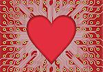 Red electronic circuit board vector, heart in technology. Valentine day Stock Photo - Royalty-Free, Artist: svetap                        , Code: 400-05750165