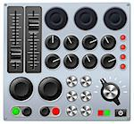 Vector illustration of a mixing console or sound board   Stock Photo - Royalty-Free, Artist: Krisdog                       , Code: 400-05750342
