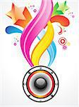 abstract colurful magical wave with sound vector illustration Stock Photo - Royalty-Free, Artist: pathakdesigner                , Code: 400-05750370