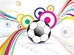 abstract football background design vector illustration Stock Photo - Royalty-Free, Artist: pathakdesigner                , Code: 400-05750395