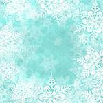 Christmas blue background with snowflakes Stock Photo - Royalty-Free, Artist: miss_j                        , Code: 400-05750654