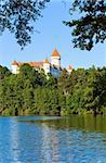 Historic medieval Konopiste Castle in Czech Republic ( central Bohemia, near Prague ) and summer pond near Stock Photo - Royalty-Free, Artist: Yuriy                         , Code: 400-05750729