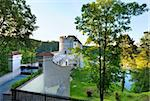Evening  historic medieval Sternberk Castle in Czech Republic ( central Bohemia, near Prague ) Stock Photo - Royalty-Free, Artist: Yuriy                         , Code: 400-05750731