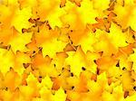3D Illustration Background Group Autumn Orange Leaves. Stock Photo - Royalty-Free, Artist: tashatuvango                  , Code: 400-05751329