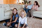 Family spending time in the living room together Stock Photo - Royalty-Free, Artist: 4774344sean                   , Code: 400-05751508