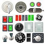 A set of knobs, switches and dials Stock Photo - Royalty-Free, Artist: Krisdog                       , Code: 400-05751539