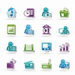 Bank and Finance Icons - Vector Icon Set Stock Photo - Royalty-Free, Artist: stoyanh                       , Code: 400-05751610