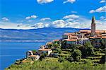 Adriatic Town of Vrbnik in front of blue sea, Island of Krk, Croatia Stock Photo - Royalty-Free, Artist: xbrchx                        , Code: 400-05752498