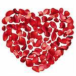 Big heart made of red rose petals Stock Photo - Royalty-Free, Artist: nurrka                        , Code: 400-05752502