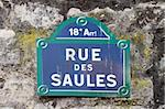 A street sign in the region of Montmartre, Paris Stock Photo - Royalty-Free, Artist: alexandr6868                  , Code: 400-05752576