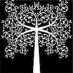 Beautiful art tree isolated on white background Stock Photo - Royalty-Free, Artist: inbj                          , Code: 400-05752609